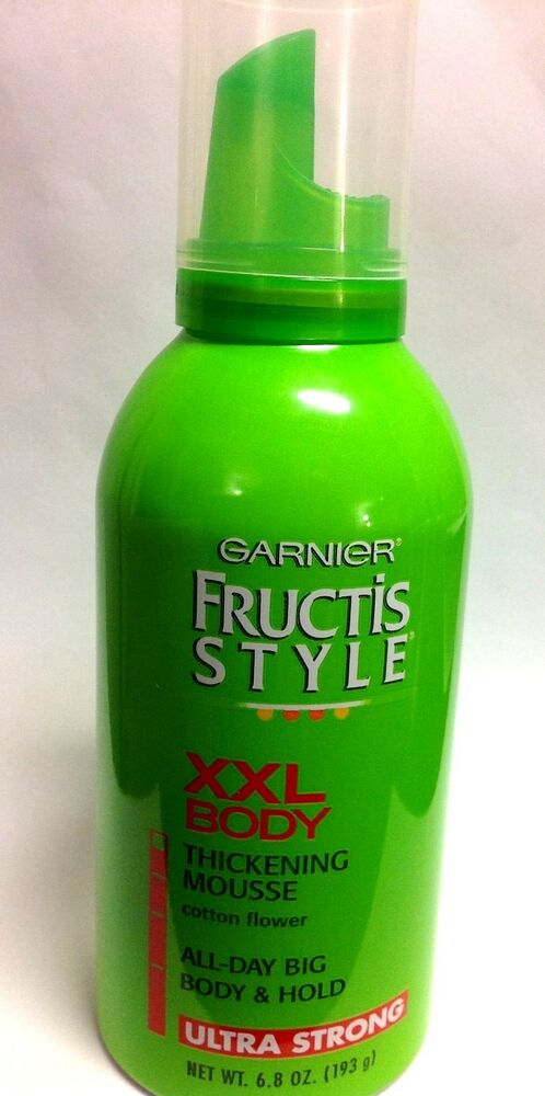 Garnier Fructis Style XXL Body Thickening Mousse, Ultra Strong Hold / 6.8 Ounce | eBay