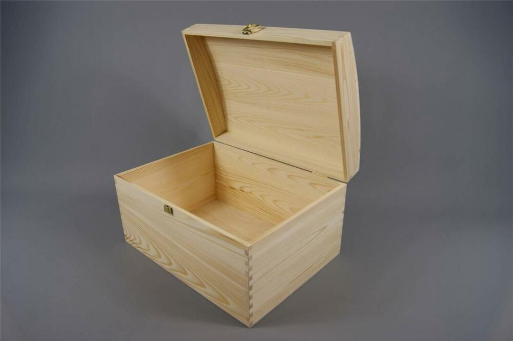 large wooden boxes for crafts