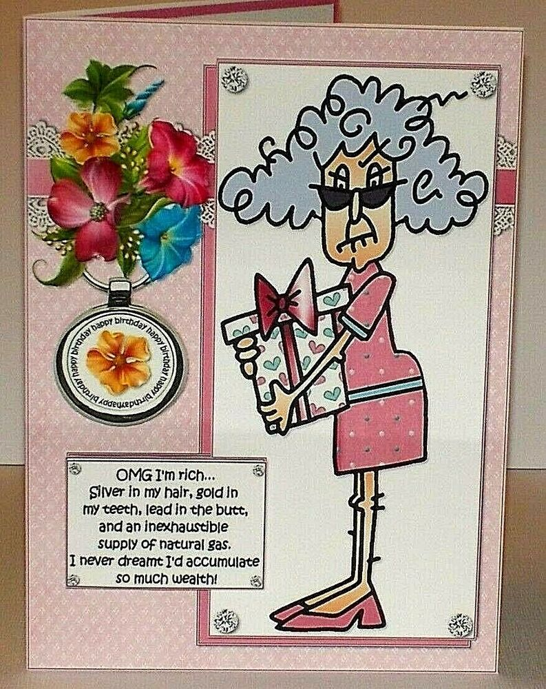 Handmade Greeting Card 3D Humorous Birthday with An Older Lady | eBay: www.ebay.com/itm/Handmade-Greeting-Card-3D-Humorous-Birthday-With...