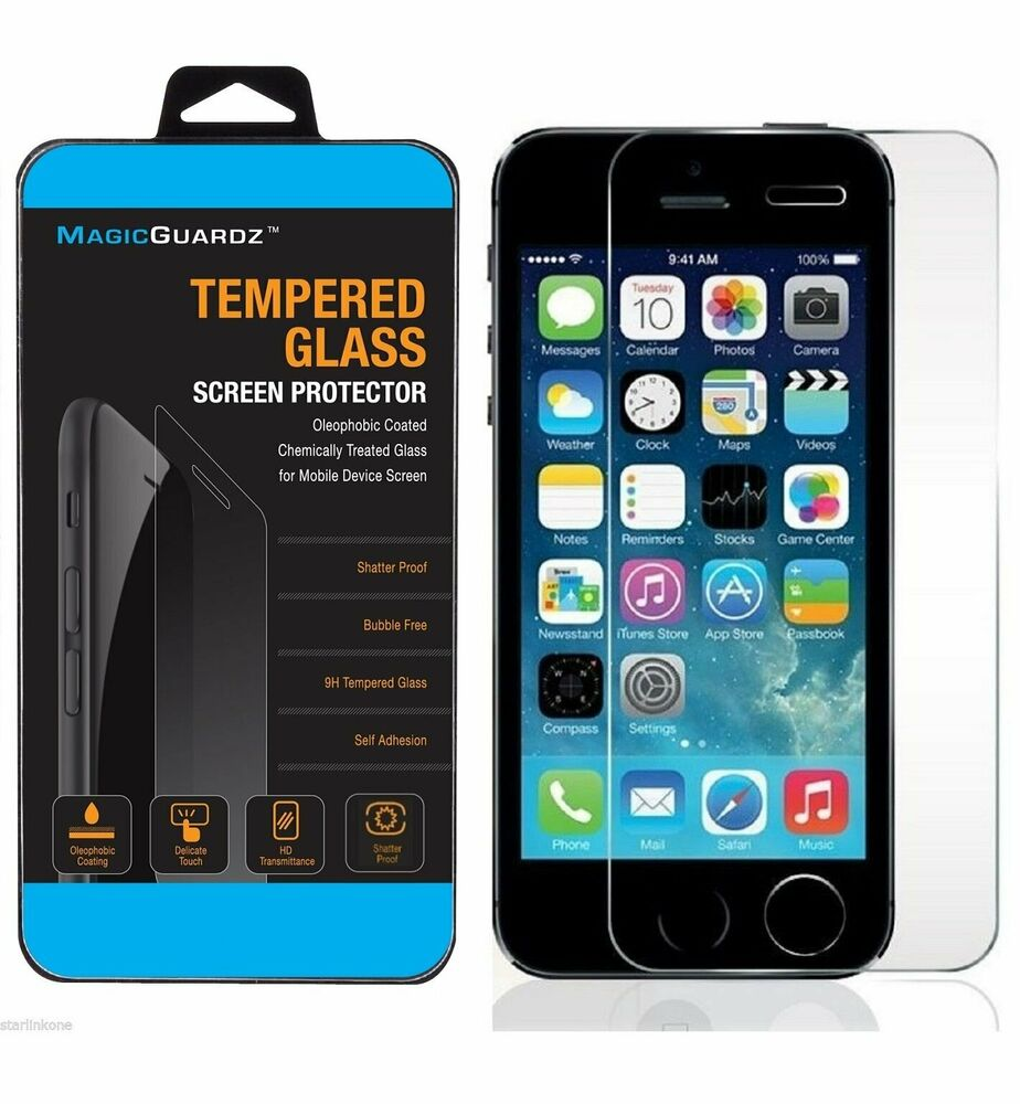 tempered glass iphone 5s high quality premium real tempered glass screen protector 16256