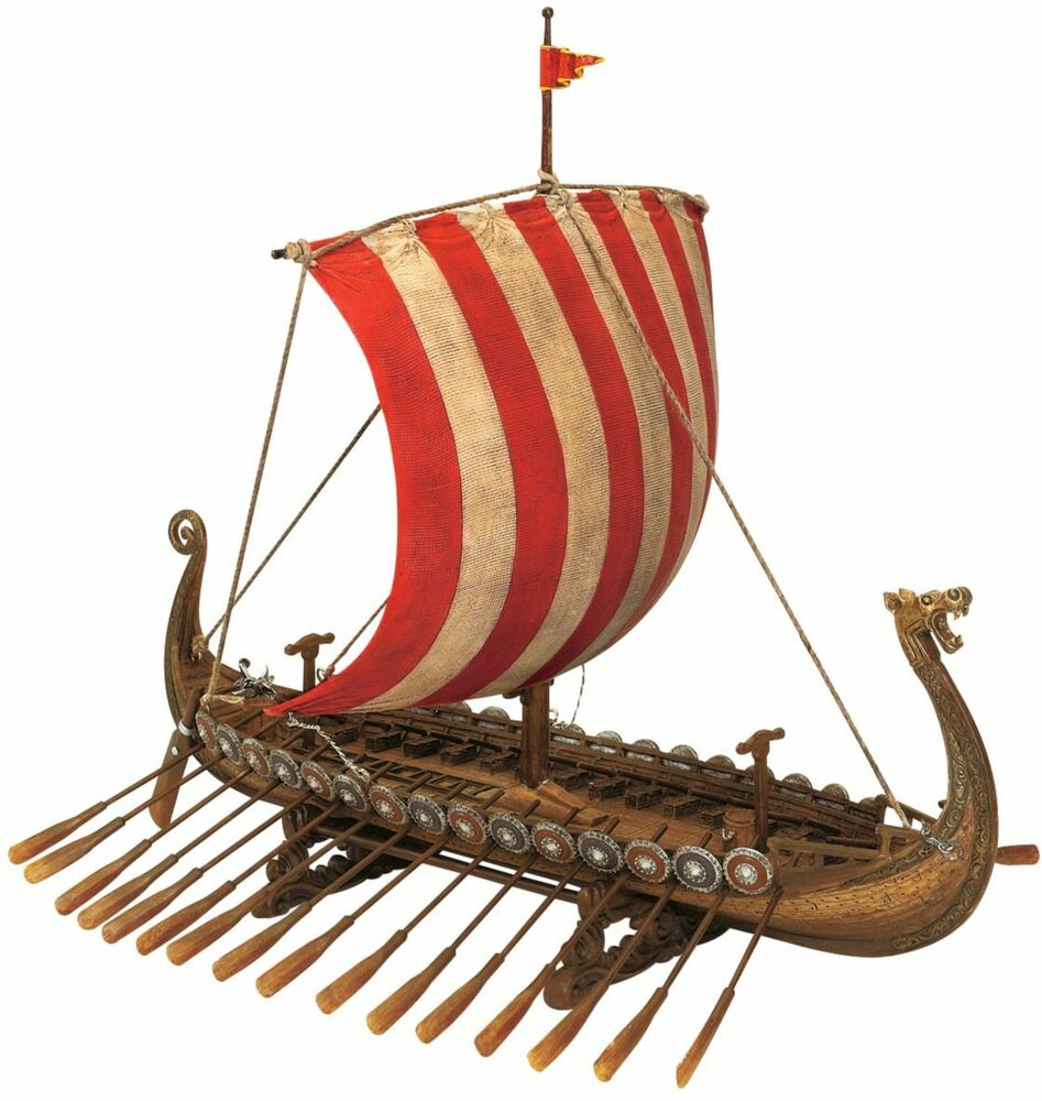 Viking Dragon Headed Longship Museum Replica Model Ship ...