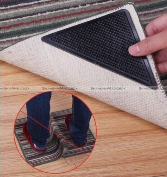 8 pcs Rug Grippers Keeps Rugs Mats in Place Curled Edge ...
