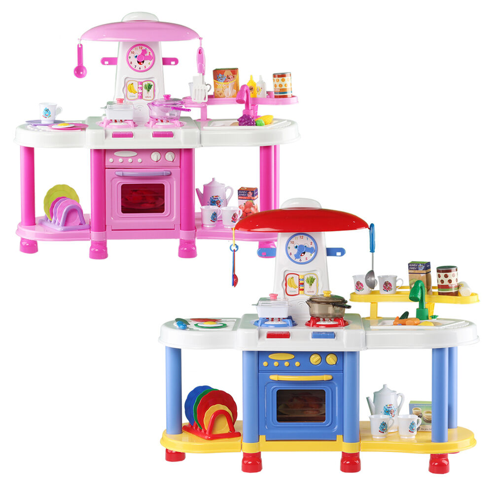 Deao kitchen play set cooking light sounds comes with 35 for Kitchen set ebay