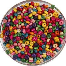 1000 Pcs Mixed Rondelle Wood Spacer Beads Loose Beads Charms 4mm