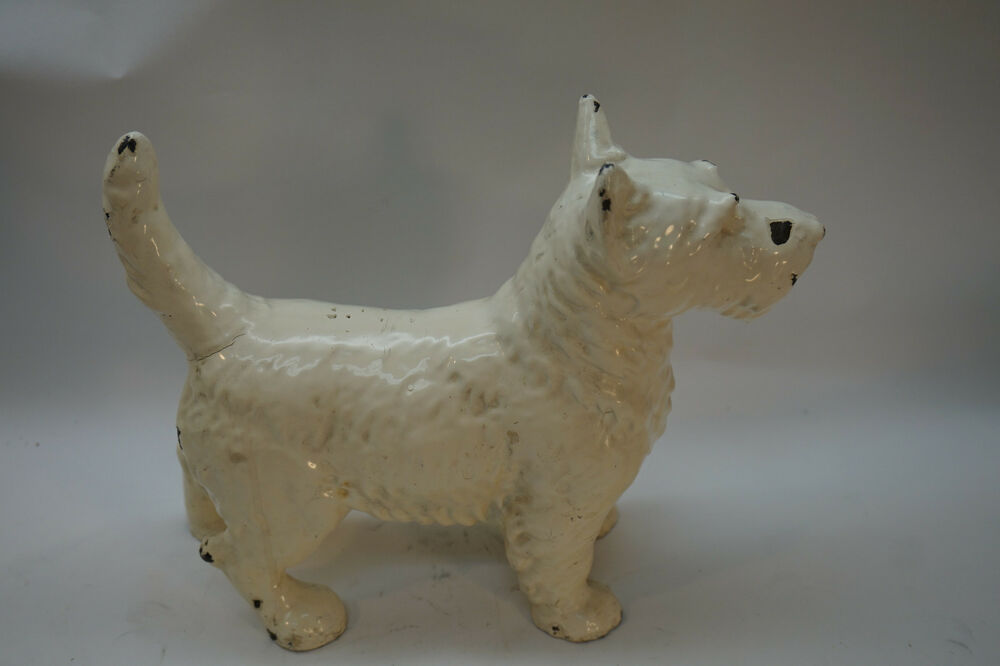 Antique hubley door stop doorstop dog scotty scottie scottish terrier cast iron ebay - Cast iron dog doorstop ...