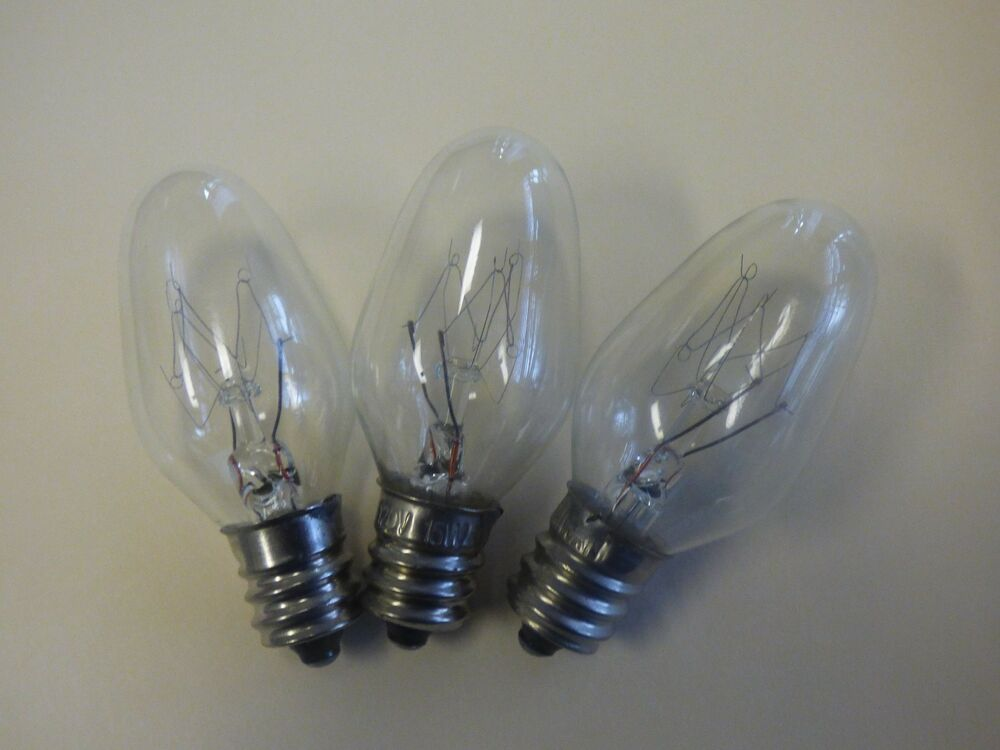 High Quality 3 Each 15 Watt Night Light Bulb Fits Wallplug In Scentsy Warmers Ebay