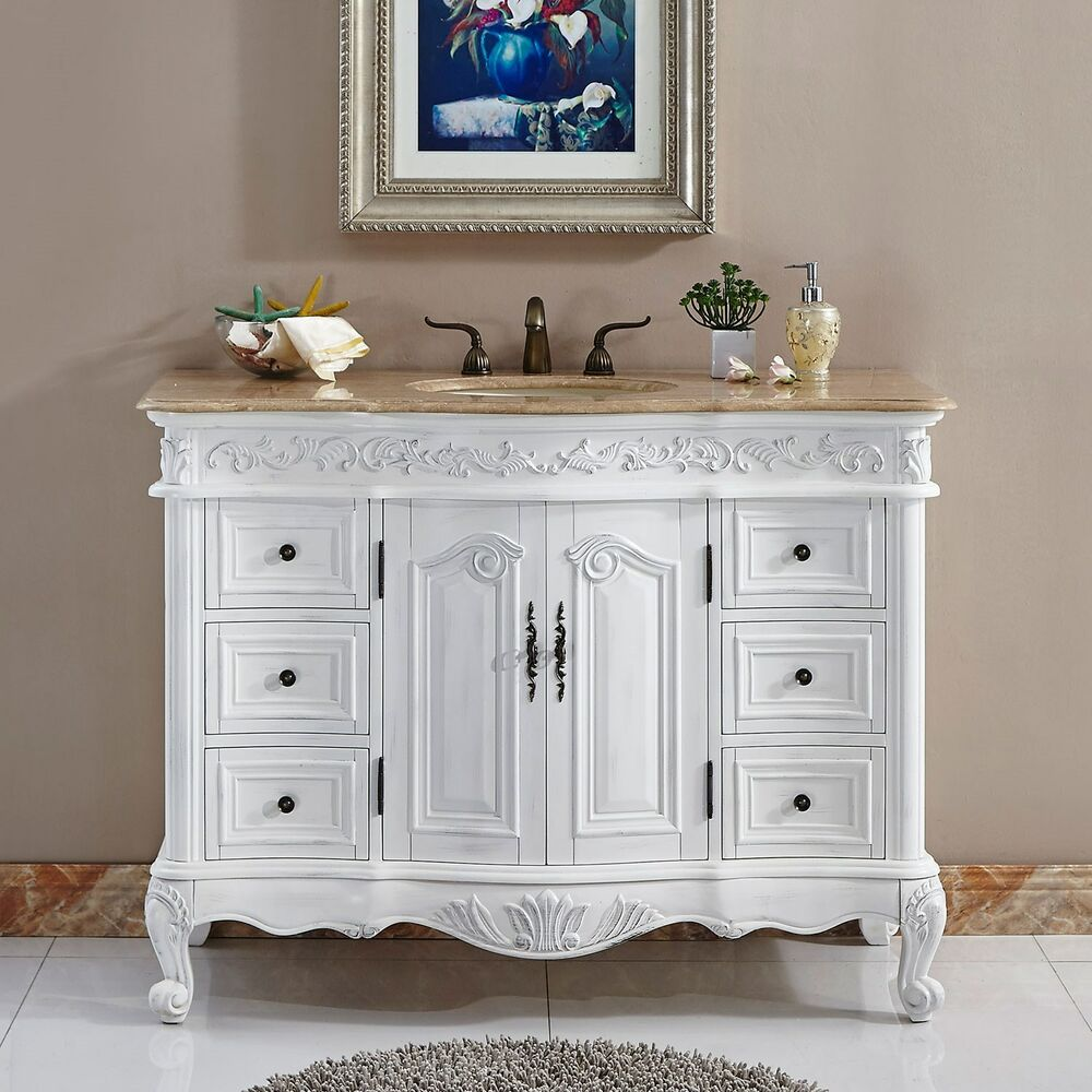 48 lavatory bathroom single sink vanity cabinet for Single bathroom vanity