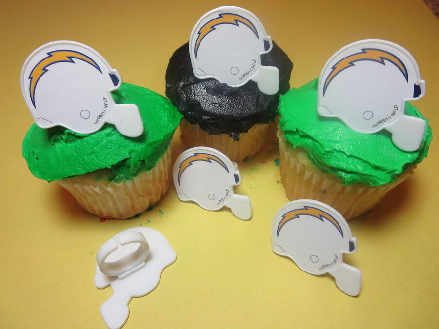 12 San Diego Chargers NFL Football Cupcake Rings Toppers ...