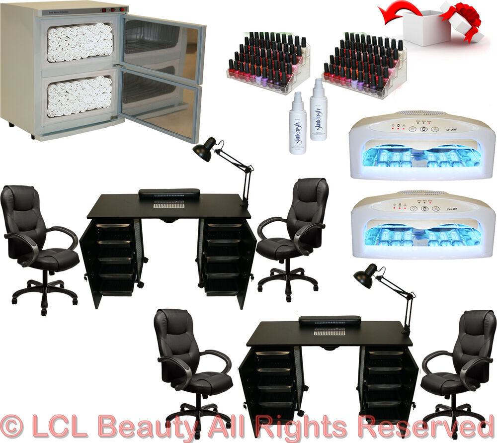 Salon Nail Dryer Machine: 2x Vented Manicure Nail Table Station Dryer Rack Executive