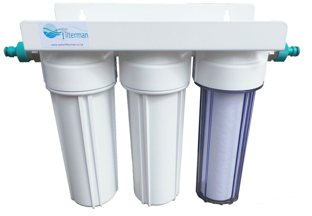 3 stage hma water filter system with hosepipe connectors for Pond water filter