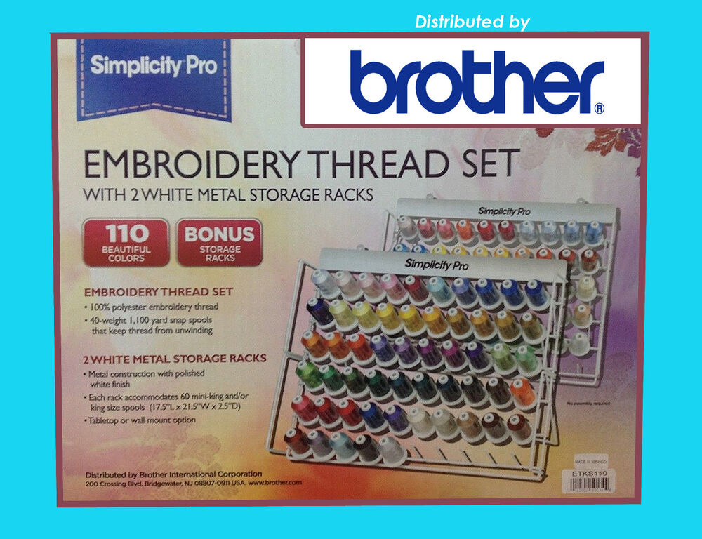 Brother Set 110 Spool Embroidery Thread Genuine 3 10 Ea