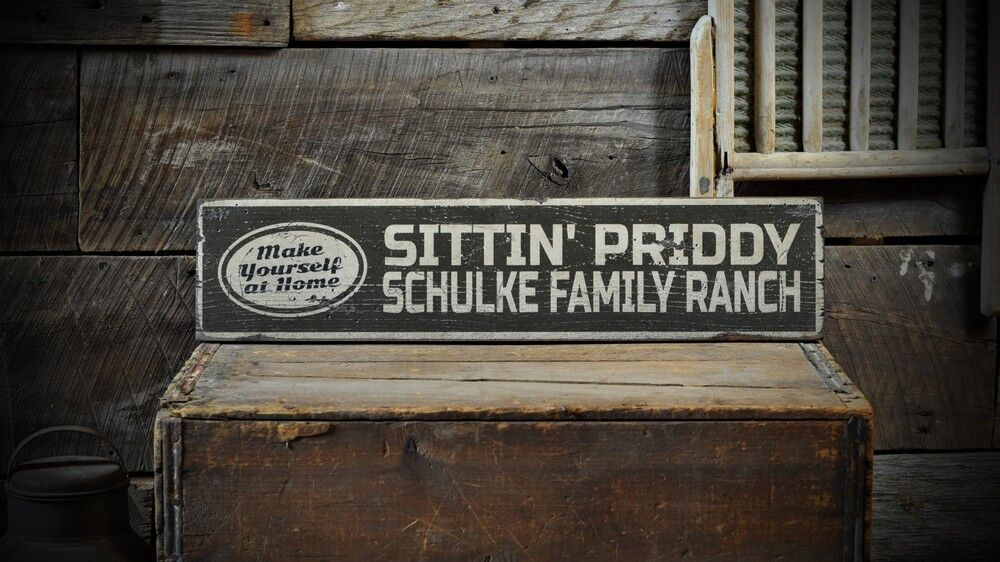 Custom Family Ranch Name Sign Rustic Hand Made Vintage