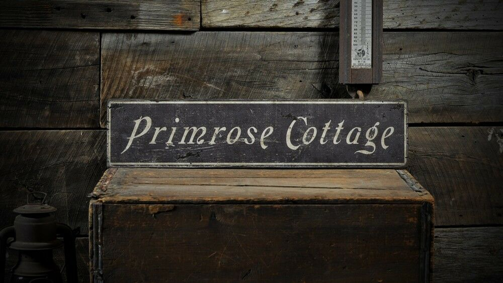 Custom Primrose Cottage Name Sign Rustic Hand Made