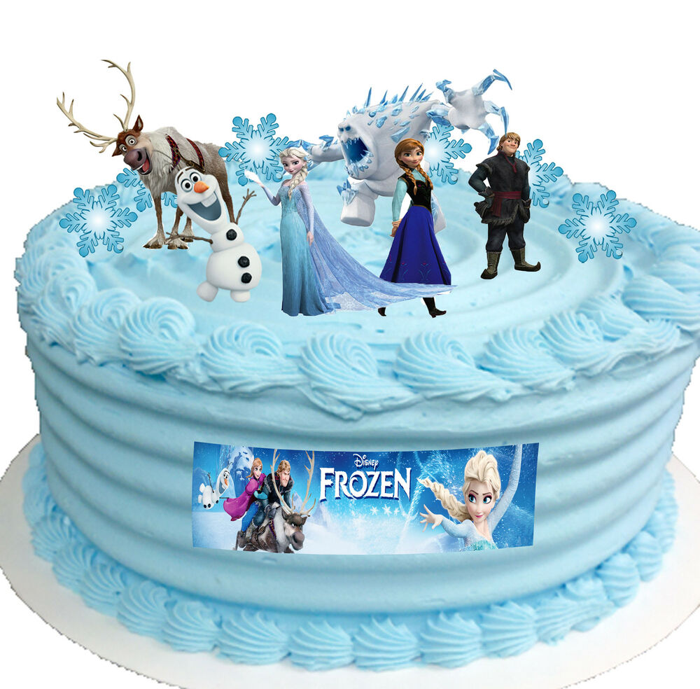 Frozen Disney Elsa Birthday Party Cup Cake Toppers STAND ...