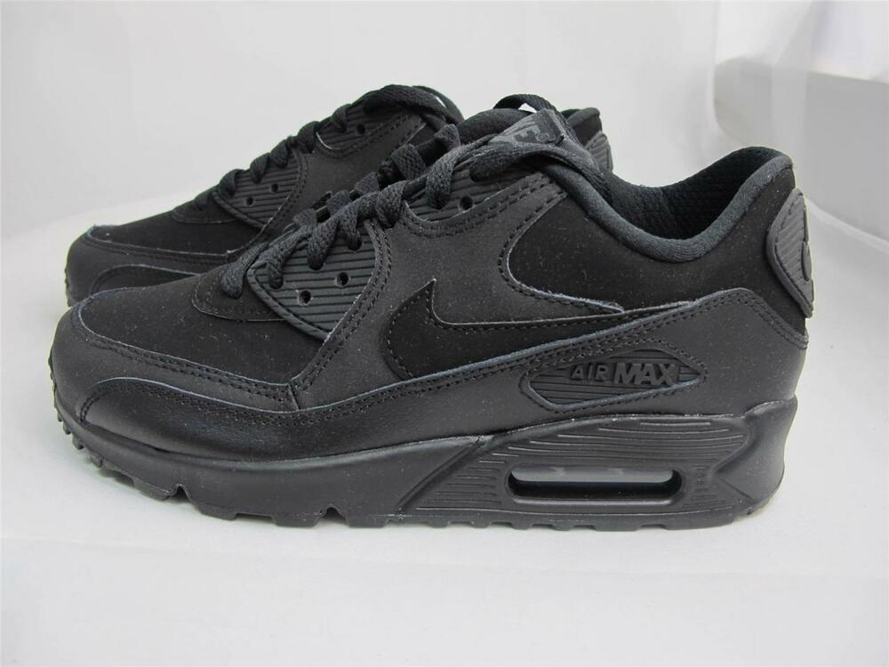 new products c452a 66bf6 Details about NEW JUNIORS NIKE AIR MAX 90 307793-091 BLACK DARK GREY