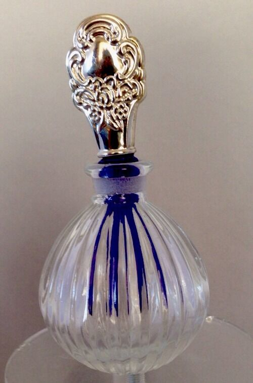 glass stopper bottles clear glass perfume bottle with silver plated stopper ebay 1241