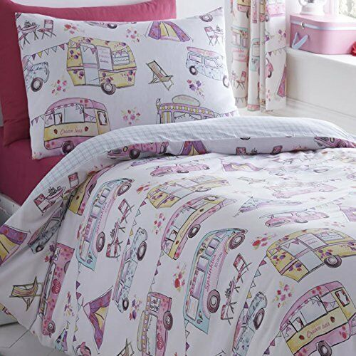 GLAMPING BEDDING OR CURTAINS CARAVAN CAMPER VAN RETRO
