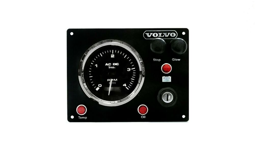 Volvo boat dashboard panel with wiring harness pigtail