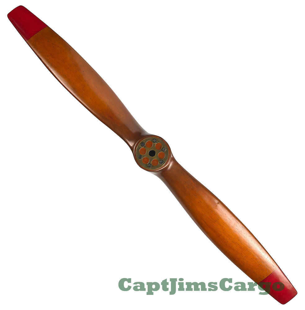 Wwi wooden airplane propeller 47 decorative vintage for Aircraft propeller decoration
