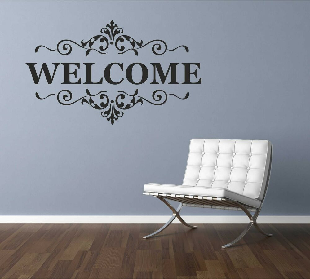Welcome Wall Quote Vinyl Sticker Decal Mural Art Decor