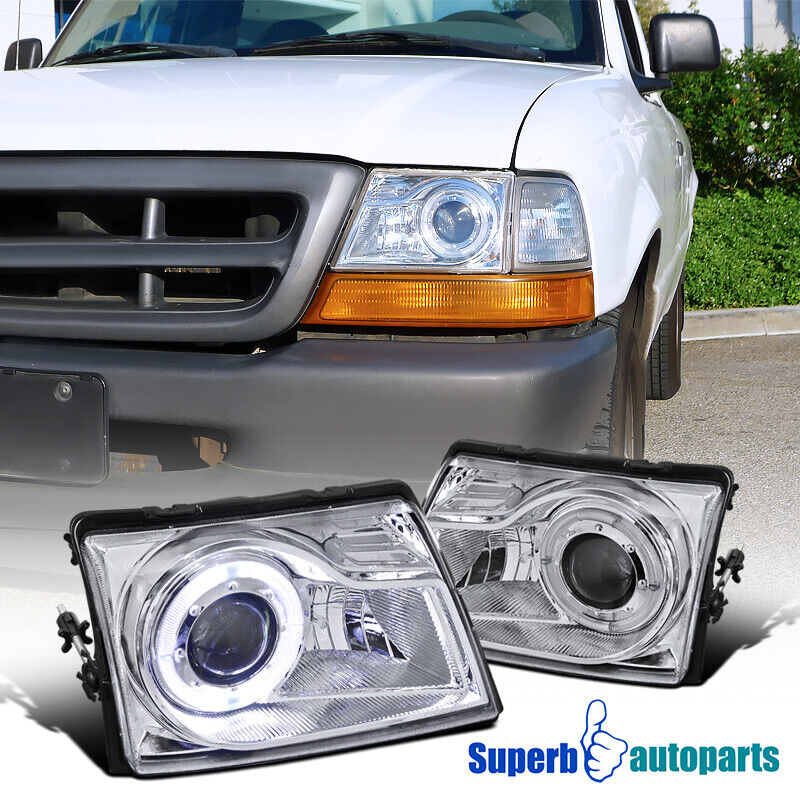 Ford Ranger Projector Headlights : Ford ranger projector headlights clear lens w