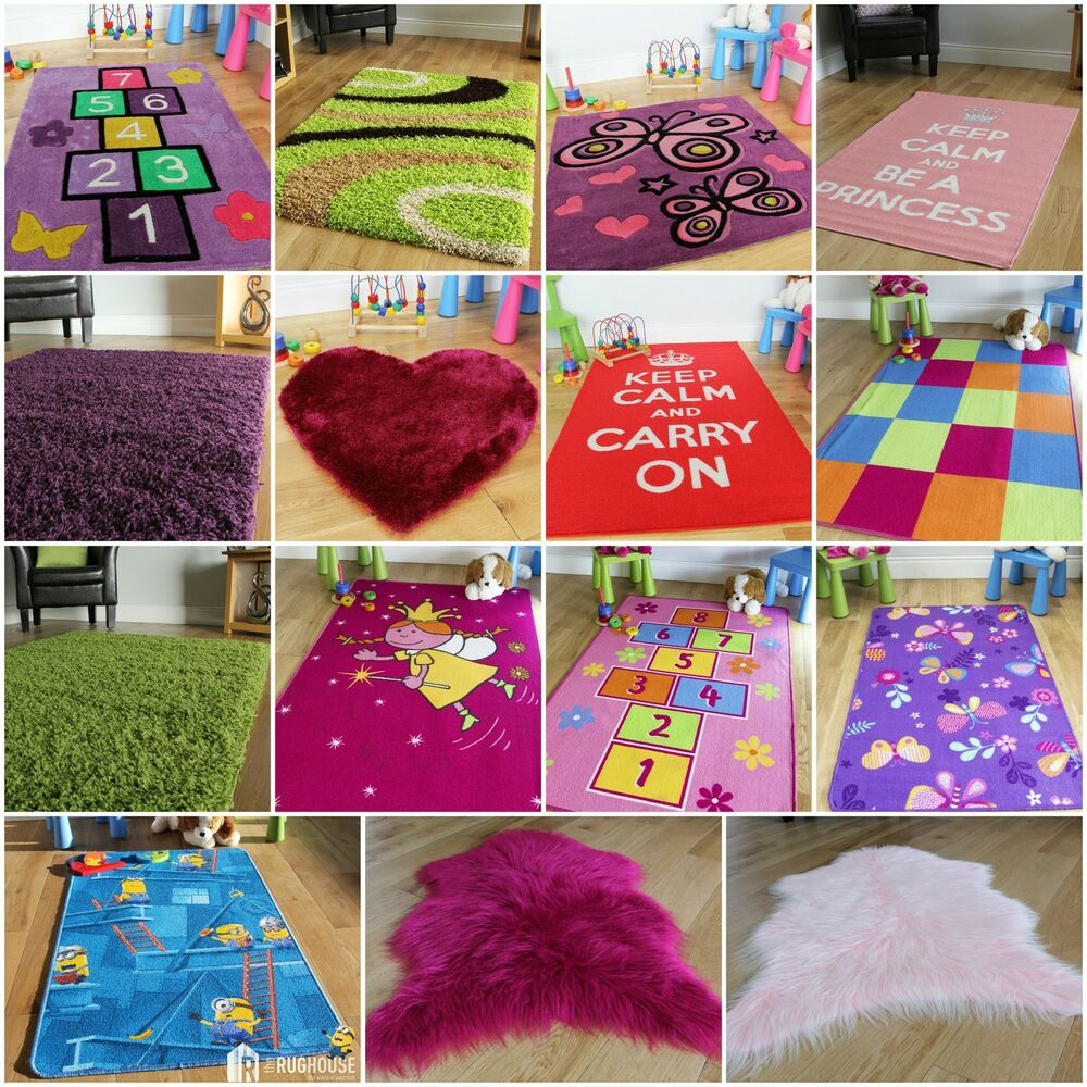 new girls bedroom pink purple red cheap rugs small soft thick kids