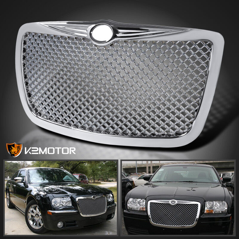 2005-2010 Chrysler 300 300C Chrome Front Hood Bumper Mesh