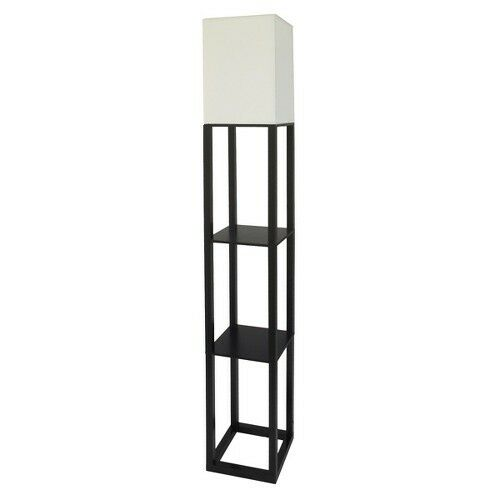 Ikea Malm Bett Lattenrost Rutscht ~ Threshold Shelf Floor Lamp with White Shade  Black  eBay