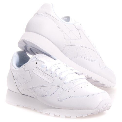 5870a86b7b555 Details about Reebok Women s Classic Leather Running Shoe in White in Sizes  5 to 12