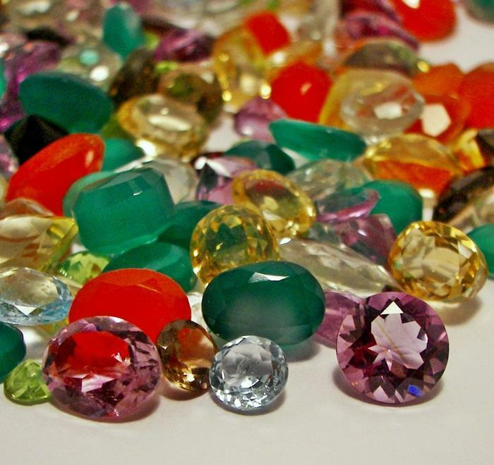 faceted gemstones mixed gems wholesale