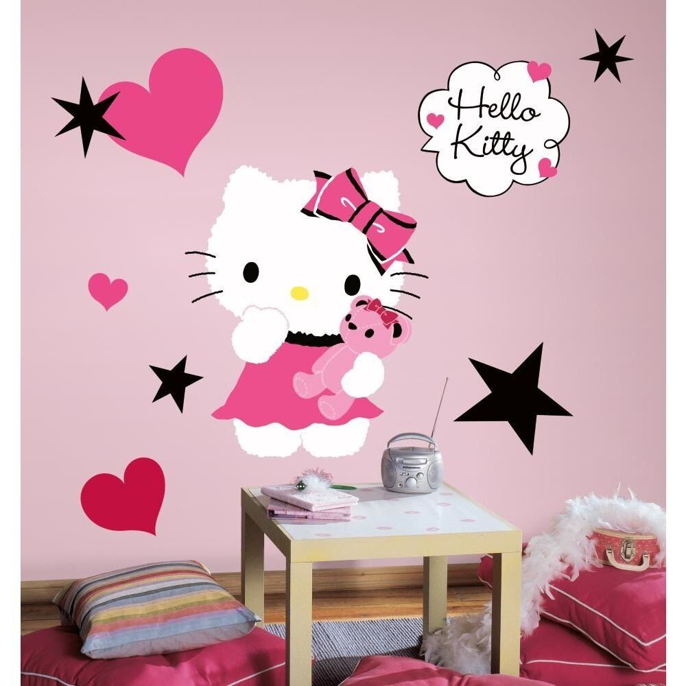 New hello kitty couture giant 13 wall decals mural stickers girls room