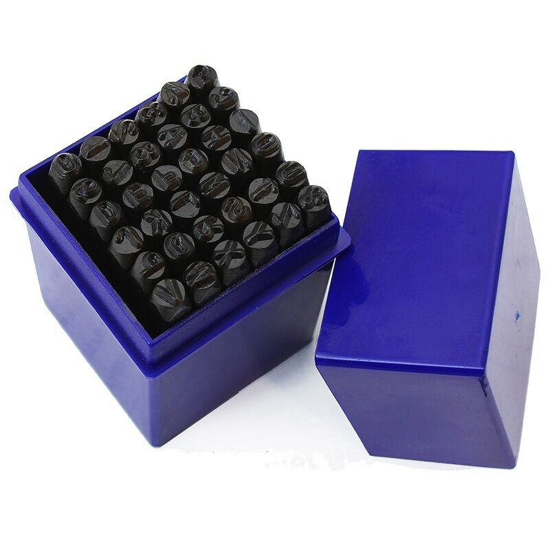 metal letter stamps 4mm 36 pc punch stamps metal capital letter amp number 16590