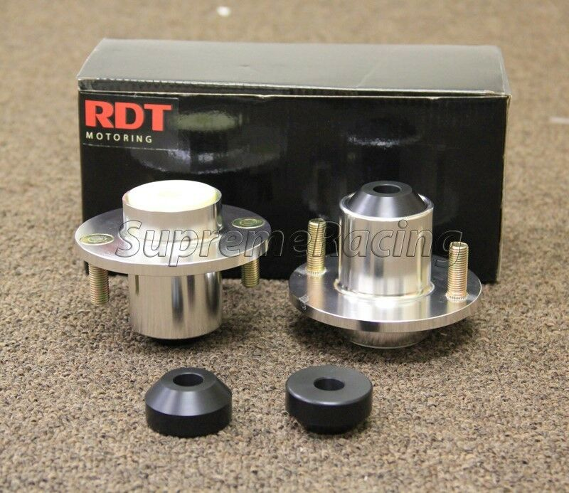 Coilover Top Hat: RDT Polished Aluminum Coilover Extended Top Hats For 1992
