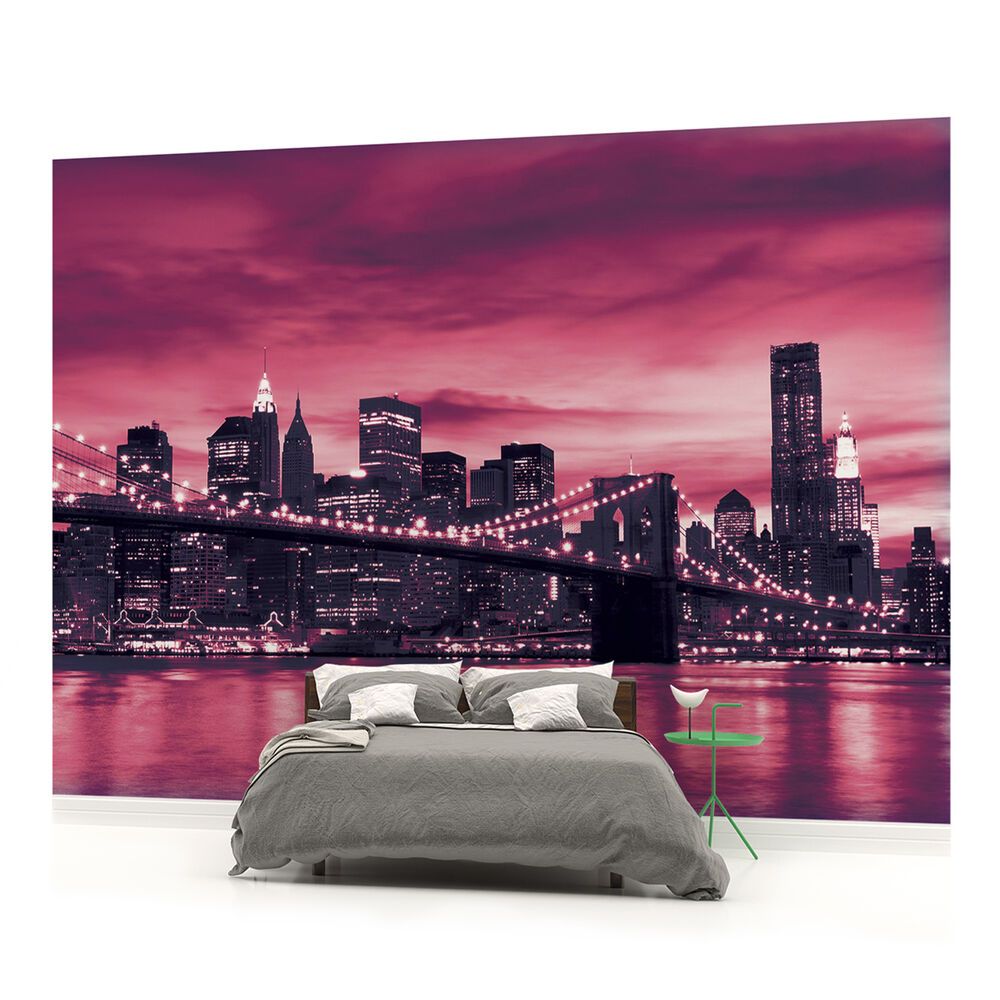 Wall mural photo wallpaper picture 230pp new york for Brooklyn bridge mural wallpaper