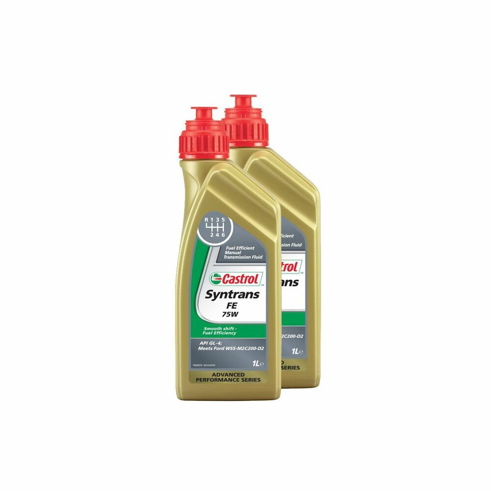 2 litres castrol syntrans fe 75w fully synthetic manual gear oil ford ebay. Black Bedroom Furniture Sets. Home Design Ideas