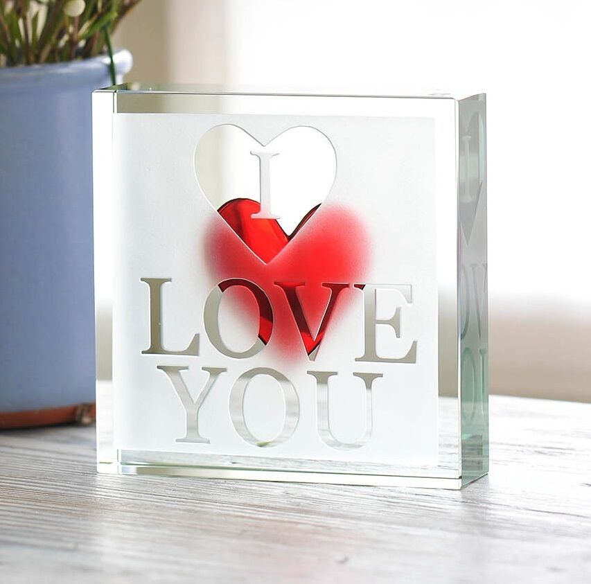 Relationship Gifts For Him: Spaceform Paperweight I Love You Romantic Love Gift Ideas
