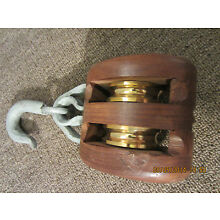 MARITIME SALVAGE SAILBOAT RIGGING TWIN PULLEY