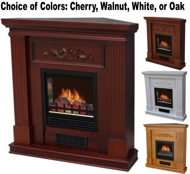 Adjustable Corner Or Flat Electric Fireplace 38 Mantle Fireplaces Heater Mantel Ebay