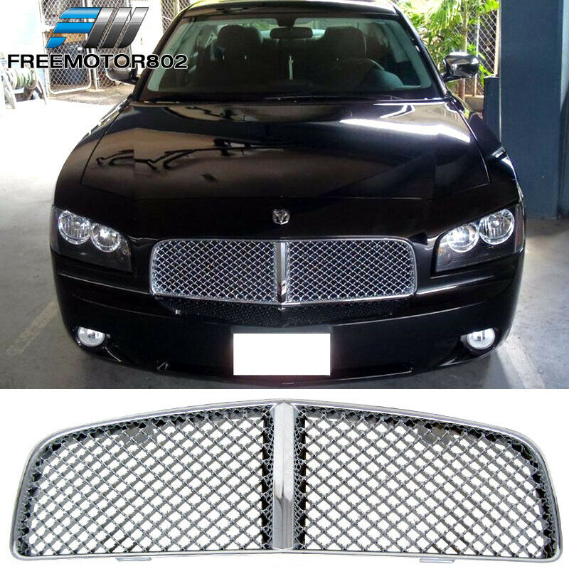 for 05 10 dodge charger mesh style chrome front grille. Black Bedroom Furniture Sets. Home Design Ideas