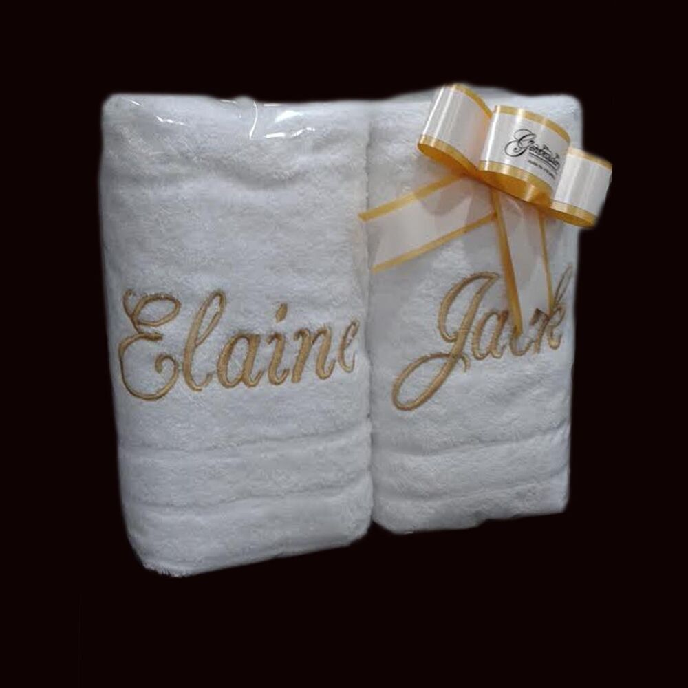 EMBROIDERED PERSONALISED TOWEL SETS Gift Wraped Sets ANY