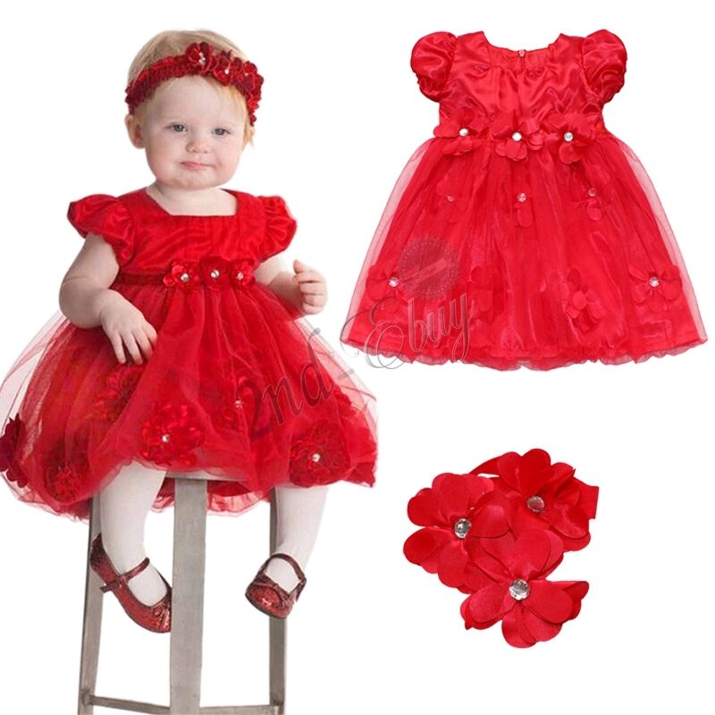 Toddler Girls Xmas Party Outfit Baby Party Wedding Pageant ...