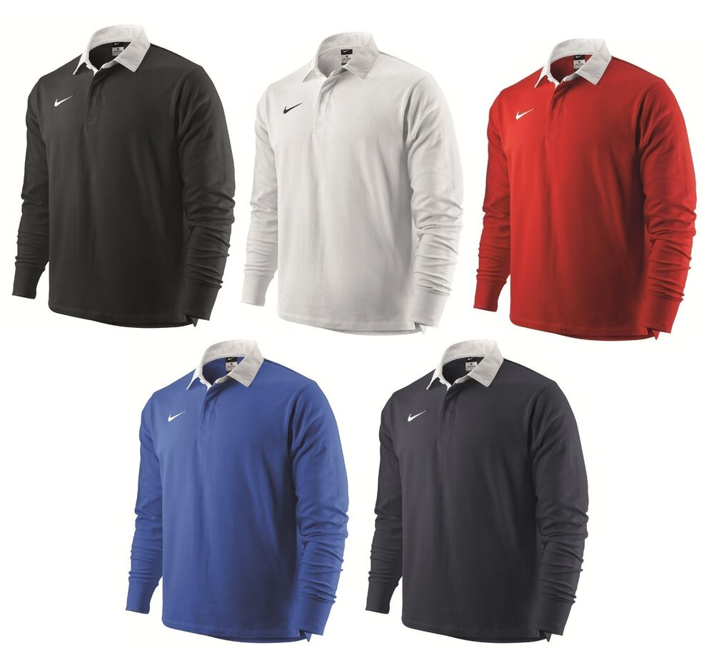 Nike Adult Classic Long Sleeve Rugby Shirt New Plain ...