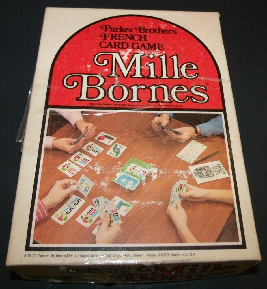 mille bornes french auto racing card game vintage 1971 100 complete ebay. Black Bedroom Furniture Sets. Home Design Ideas