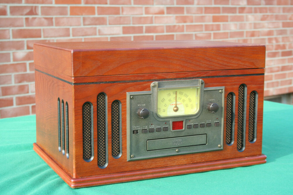 59432b9dd5cf ... cabinet that will enthuse even most discriminating of music lovers.  Demo AM FM CD Cassette Phono Line in. I have a Crosley Cr78cd entertainment  system