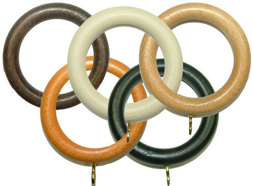 Wooden Curtain Pole Rings For 35mm Poles Buy Any Amount Ebay