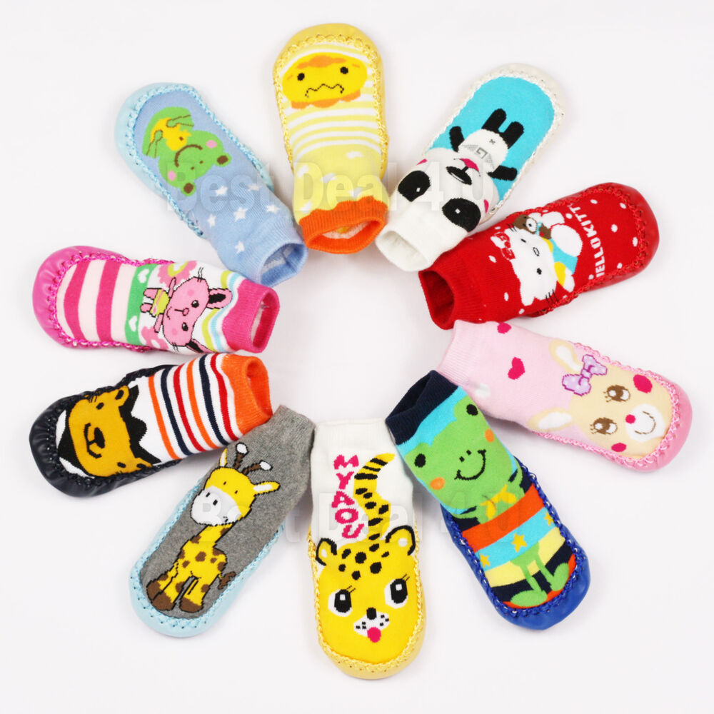 Baby Toddler Non Slip Booties Shoes Socks Moccasins