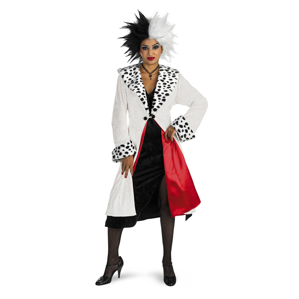 cruella de vil deluxe prestige adult costume disney 101 dalmatians disguise 5979 ebay. Black Bedroom Furniture Sets. Home Design Ideas