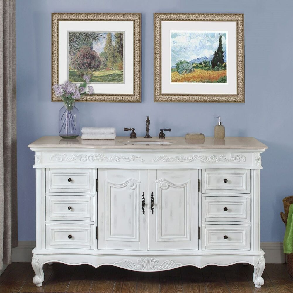 60 marble counter single sink bathroom vanity white oak finish