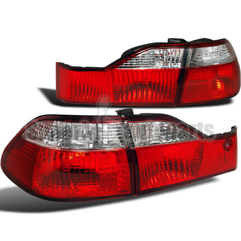 for 1998 2000 honda accord 4dr sedan tail lights depo red. Black Bedroom Furniture Sets. Home Design Ideas