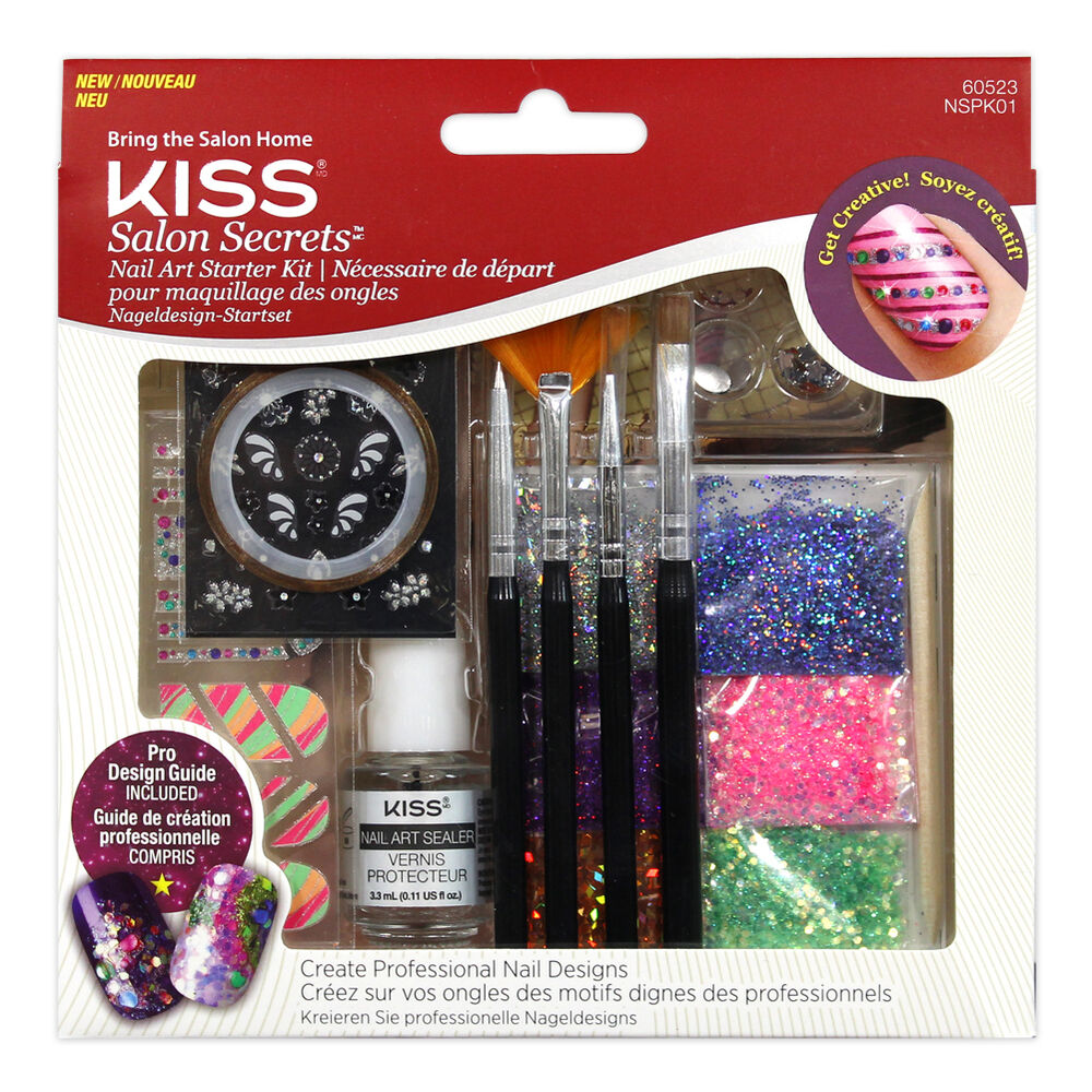 Kiss Salon Secrets Nail Art Pro Tool Kit Nsat01: KISS SALON SECRETS NAIL ART STARTER KIT NSPK01 PRO DESIGN